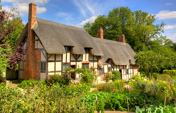 Anne Hathaway's Cottage in Shottery, Warwickshire, England
